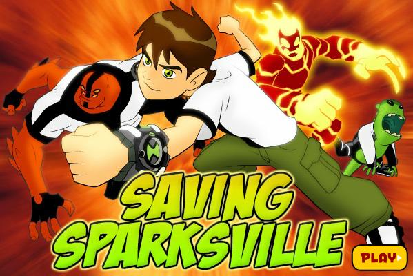 Ben 10 Saving Sparksville